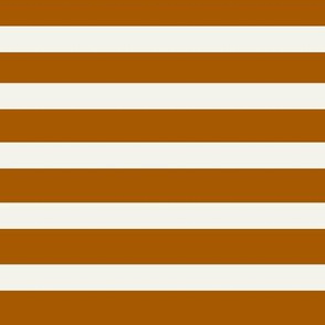 rusty stripes vertical - rusty orange and ivory fall autumn    by sunny afternoon