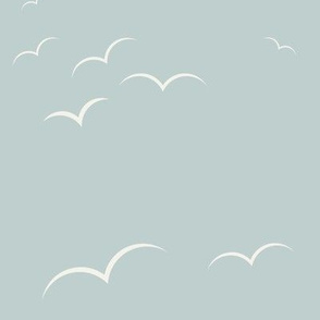 Birds - seafoam blue    by sunny afternoon