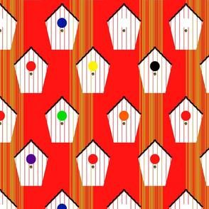birdhouse home EAN code design