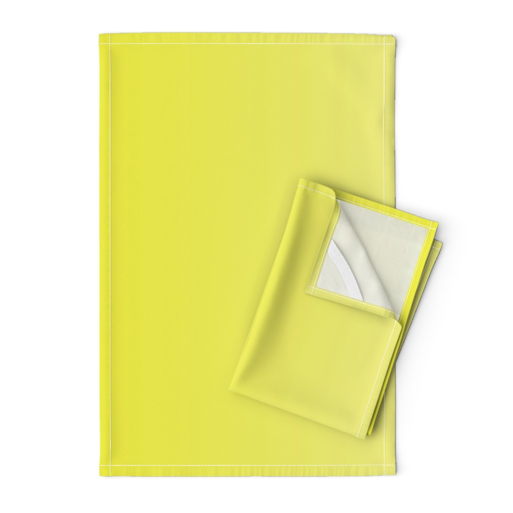Orpington Tea Towels featuring Happy Yellow Ombre by shopcabin