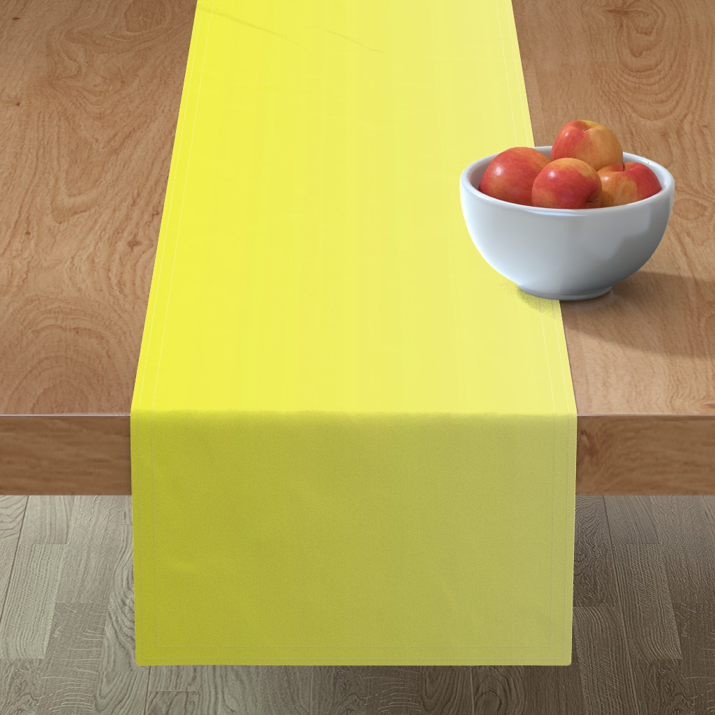 Minorca Table Runner featuring Happy Yellow Ombre by shopcabin