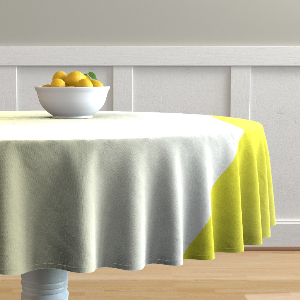 Malay Round Tablecloth featuring Happy Yellow Ombre by shopcabin