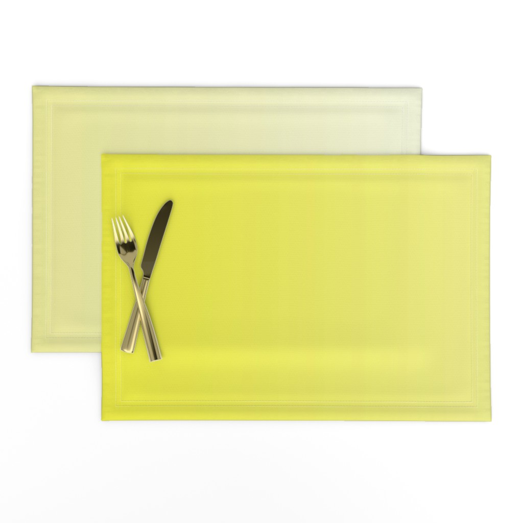 Lamona Cloth Placemats featuring Happy Yellow Ombre by shopcabin