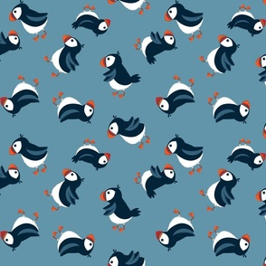 Tossed puffins