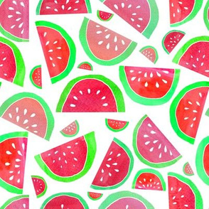 Watercolour Watermelons