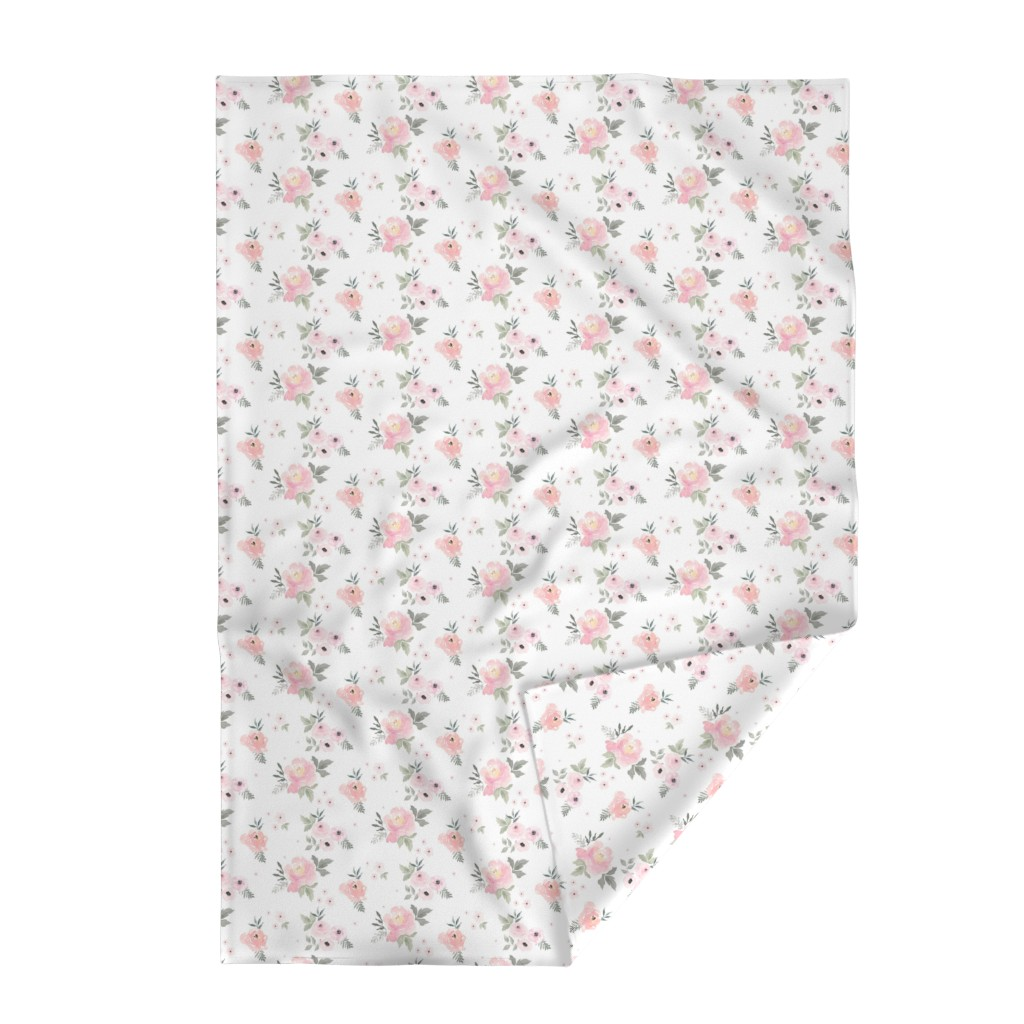 "Lakenvelder Throw Blanket featuring 8"" Sweet Blush Roses by shopcabin"