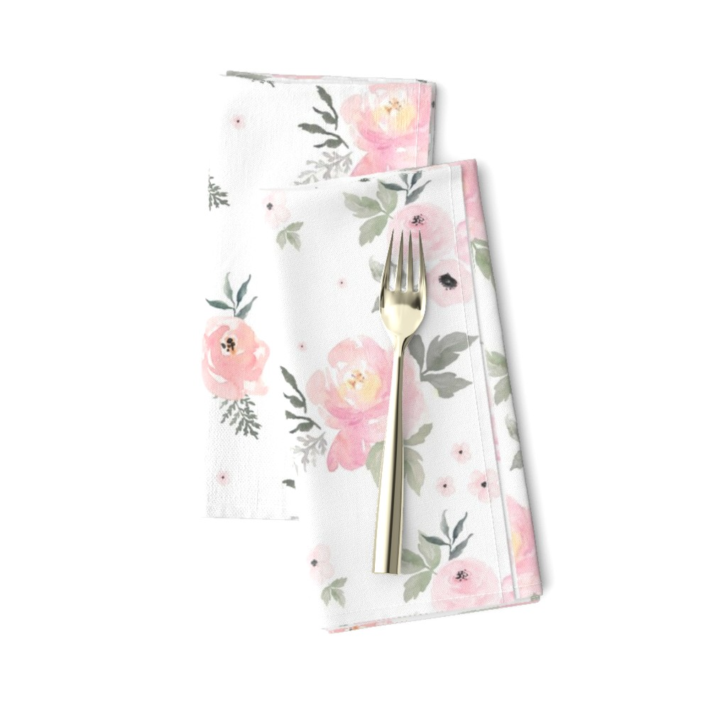 """Amarela Dinner Napkins featuring 8"""" Sweet Blush Roses by shopcabin"""