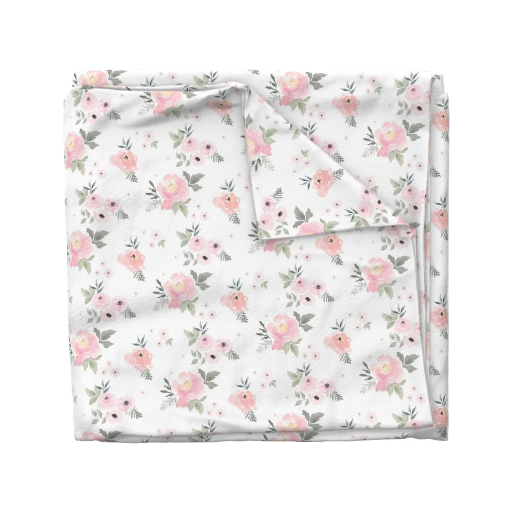 "Wyandotte Duvet Cover featuring 8"" Sweet Blush Roses by shopcabin"
