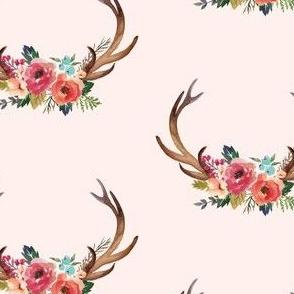 Floral Deer Garden - No Floral Background