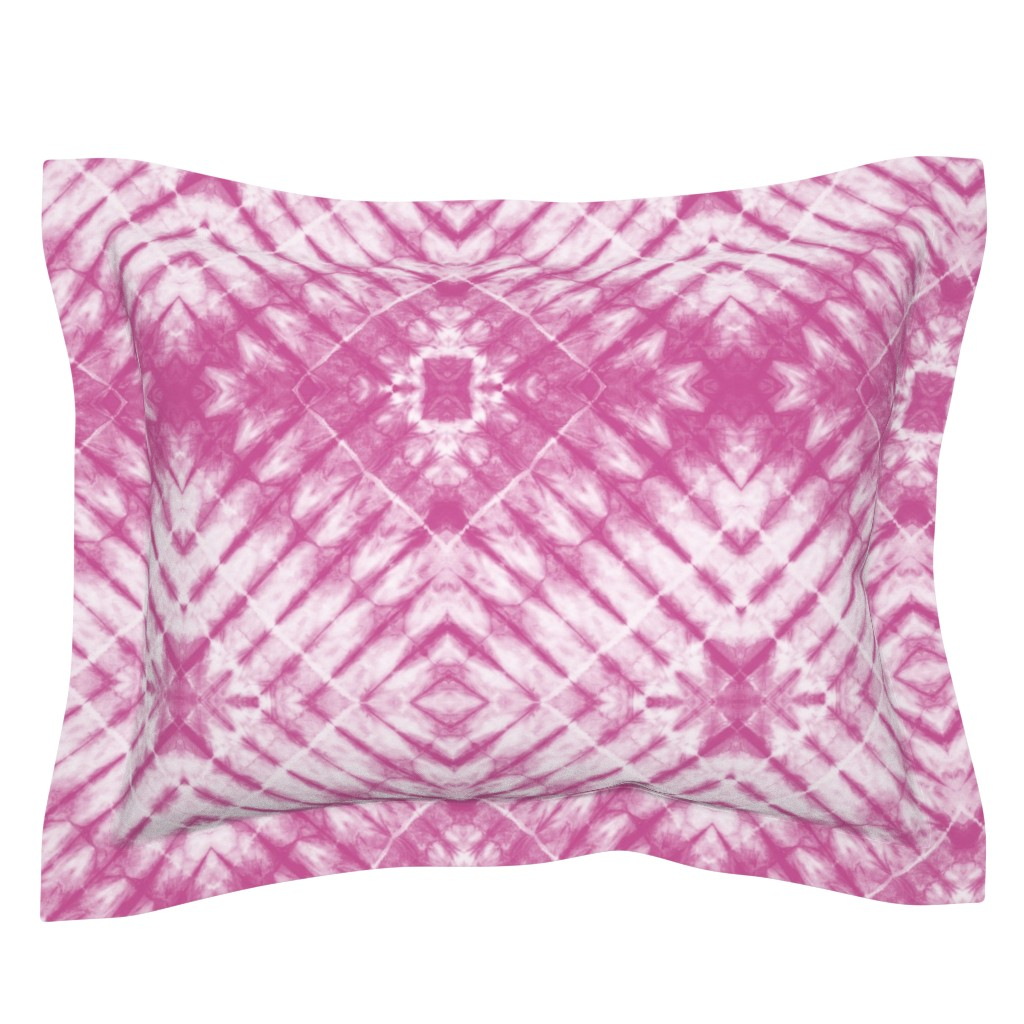 Sebright Pillow Sham featuring pink - tie dye   4 by littlearrowdesign