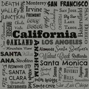 Cities of California, grey
