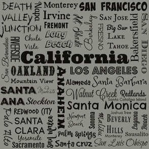 Cities of California, taupe