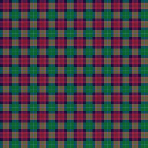 """Akins tartan, 1"""" (colors look wrong but will print correctly on cotton)"""