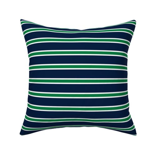 Rugby Stripe Kelly Green And Navy, Navy Blue And Kelly Green Bedding