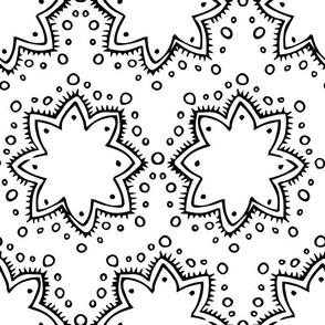 Stars + Dots | Black and White