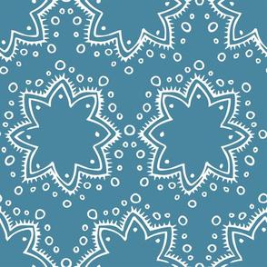 Stars + Dots | White on Blue