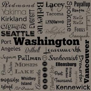 Cities of Washington, gray