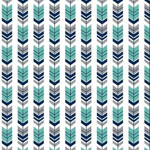 Arrow turquoise navy grey