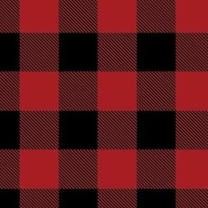 Buffalo Check Flannel Plaid Red Black