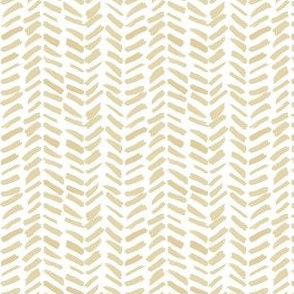 Small Painted Herringbone in Gold