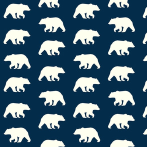 Bear Hike //Navy- Ivory bears