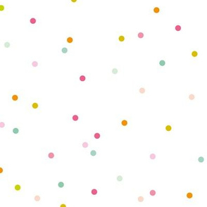 Colorful sprinkle confetti fun little dots and circles spots snow flakes gender neutral