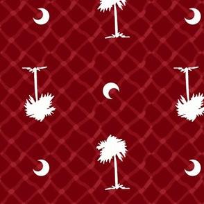 Garnet and black team color_Palmetto_Tree_Print_Garnet
