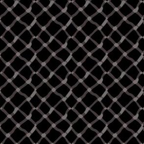 Garnet and black team color_Wavy_Diamond_Black