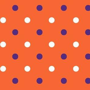 Orange and purple team color_Dot_Orange background
