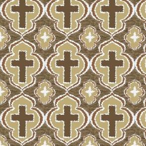 Christian Cross Taupe