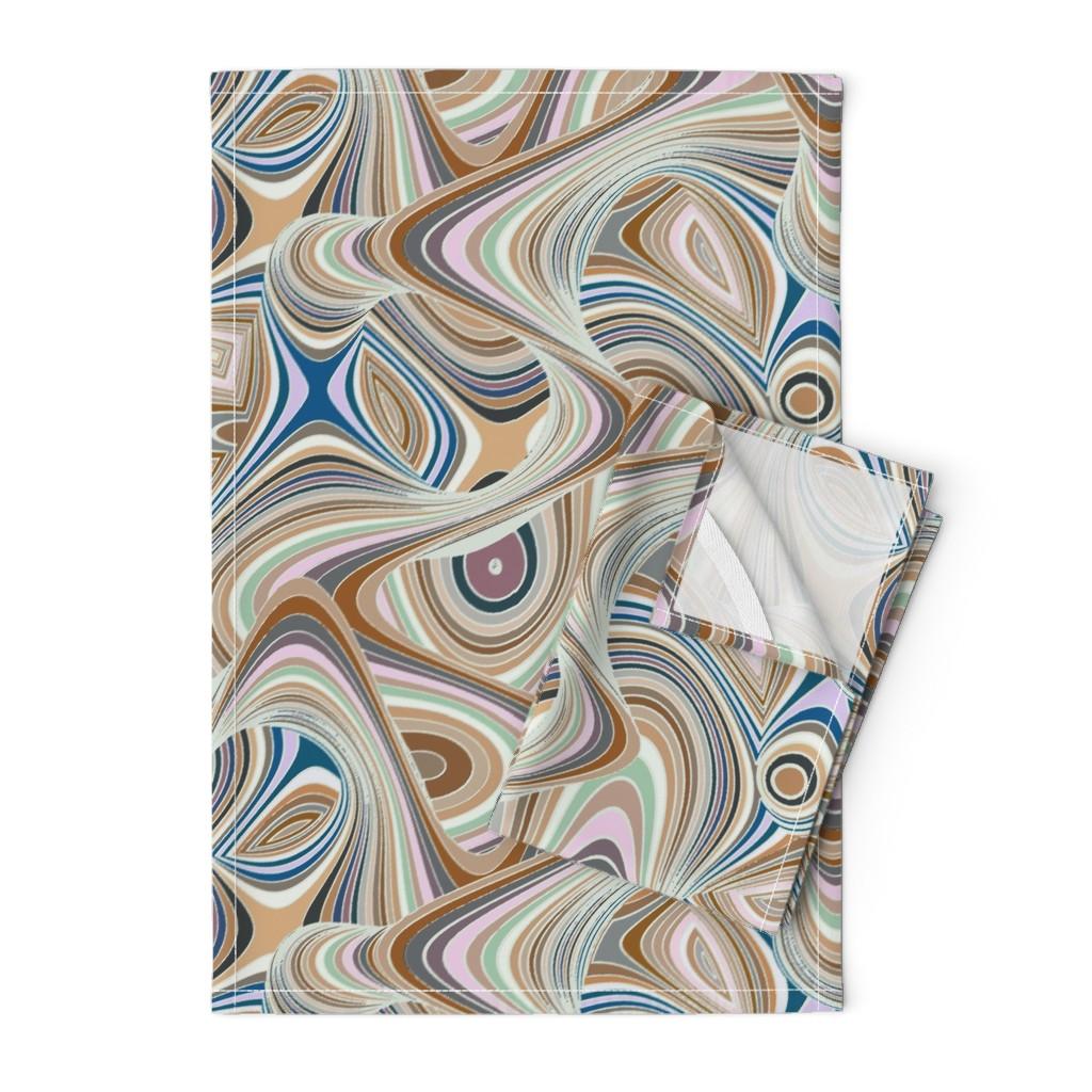 Orpington Tea Towels featuring Timewarp - gelato by ormolu