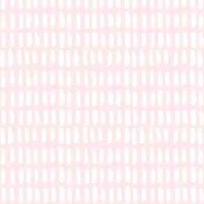O B L O N G | white on light pink linen