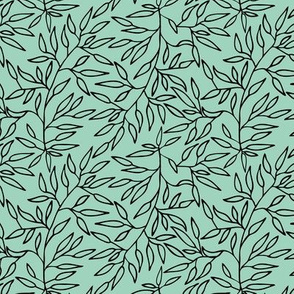 Small branches // Mint and black