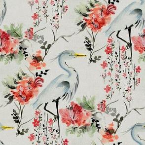 japanese crane 2 - fabric