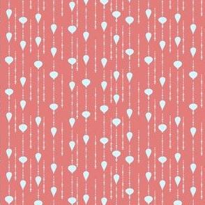 Ornament Rain light blue and pink