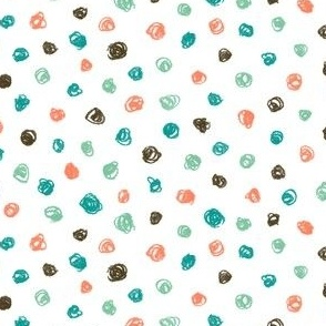 crayon polkadots in surfing colors