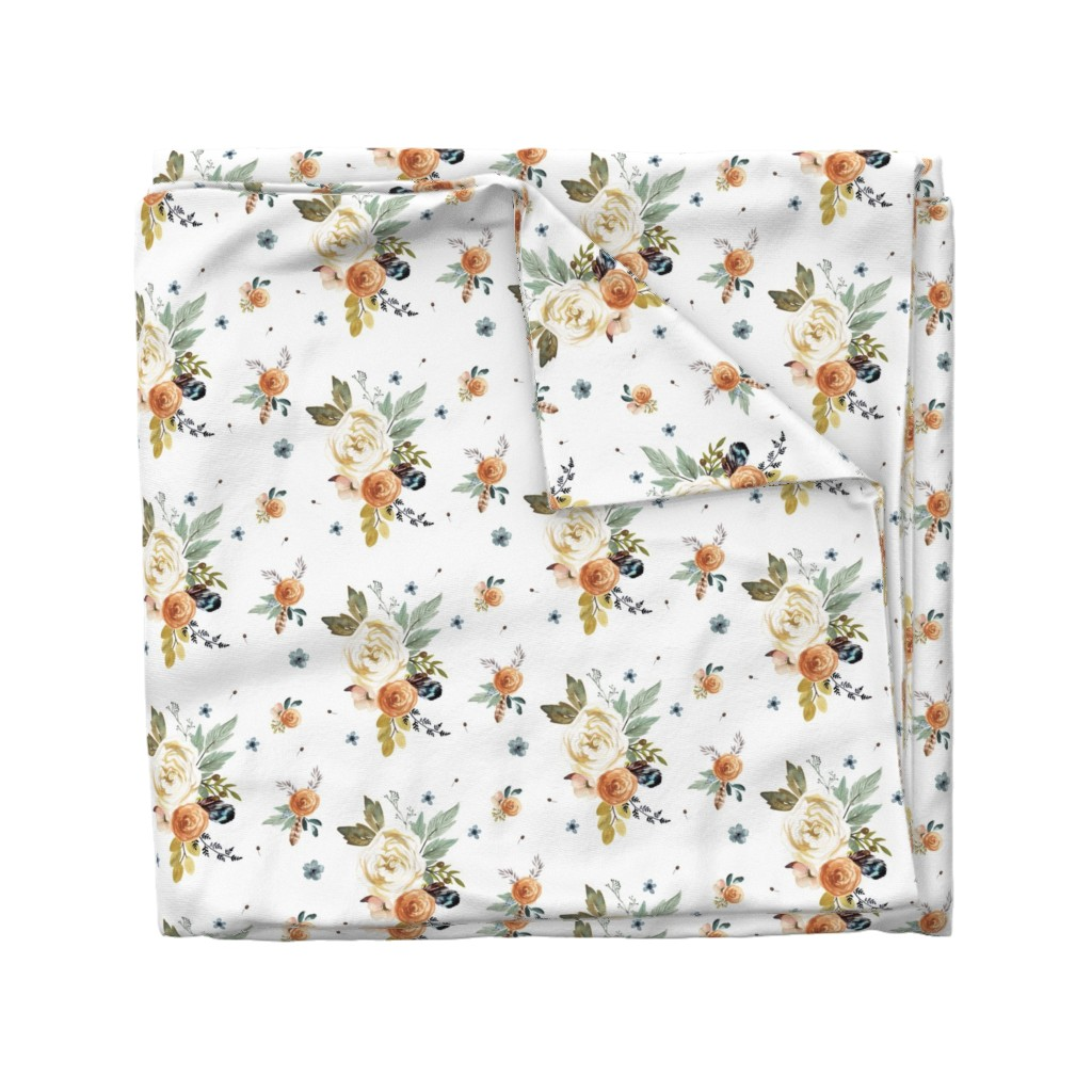 Wyandotte Duvet Cover featuring Western Autumn in White by shopcabin