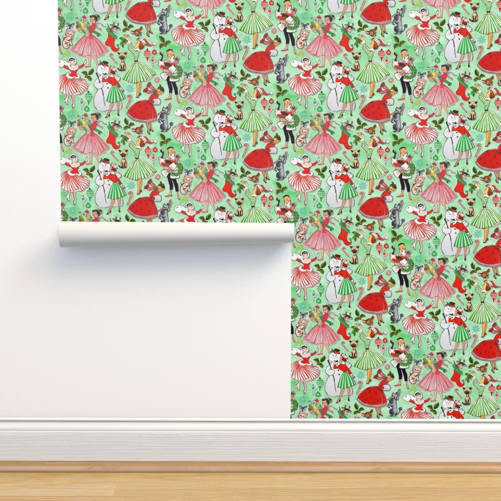 Isobar Durable Wallpaper featuring Vintage Christmas Traditions by xoxotique