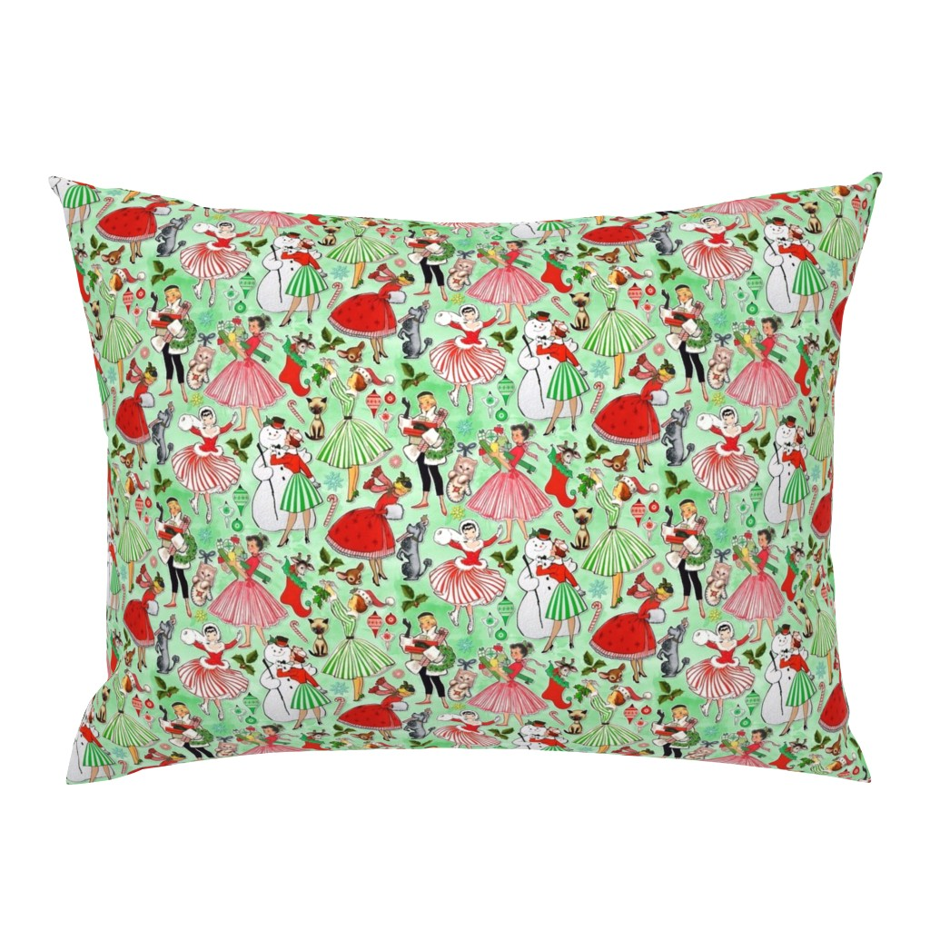 Campine Pillow Sham featuring Vintage Christmas Traditions by xoxotique