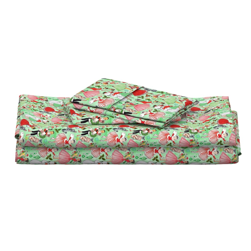 Langshan Full Bed Set featuring Vintage Christmas Traditions by xoxotique