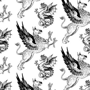griffin and dragon - potter's world - large