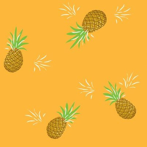 Pineapples in Gold // Summer repeat pattern // Quirky and fun print for giftwrap or fabric - original design by Zoe Charlotte