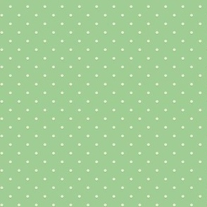 Green polka dots for hedgehogs