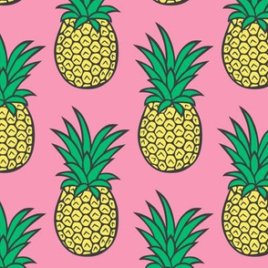 Pineapple on Pink Larger
