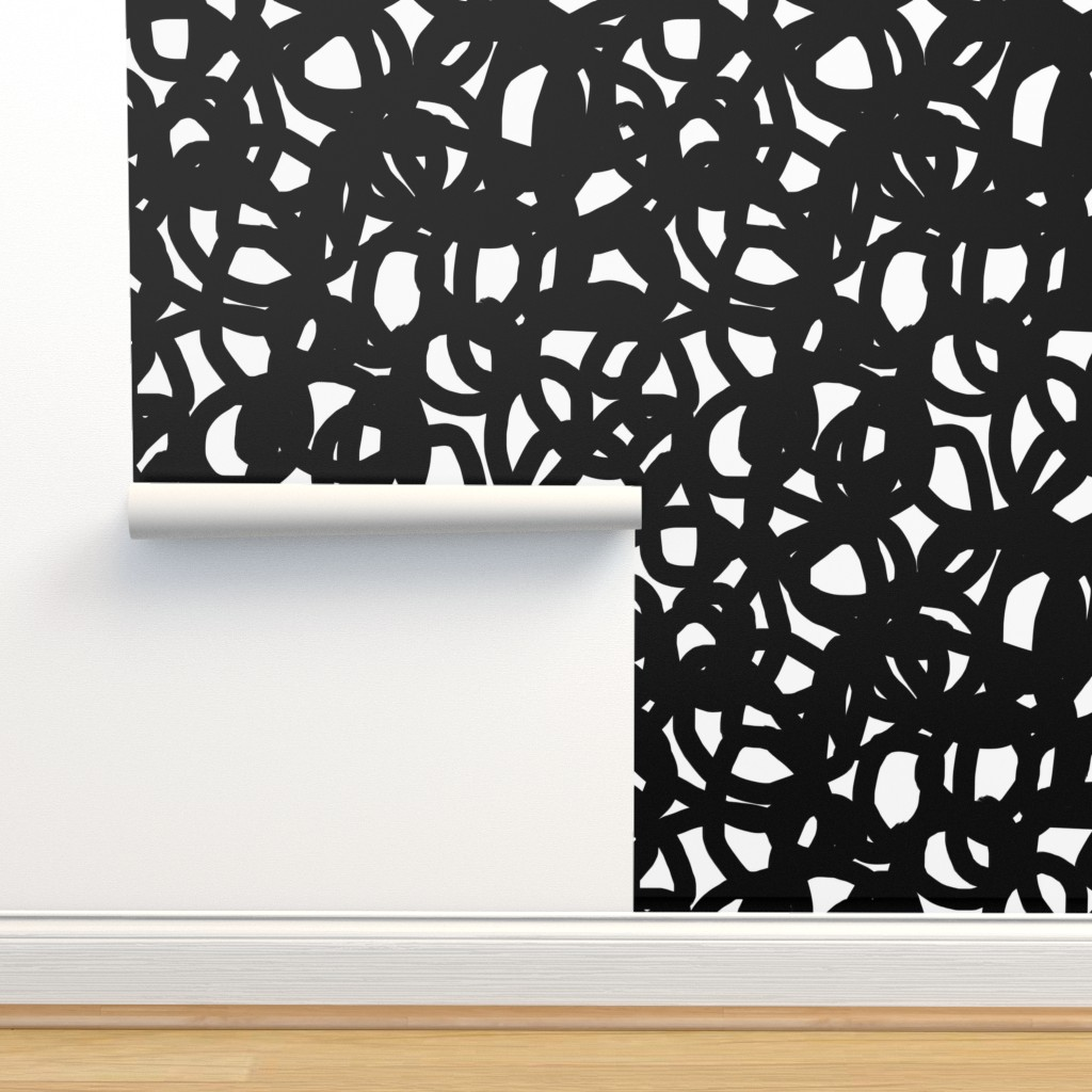 Isobar Durable Wallpaper featuring Freestyle in black by domesticate