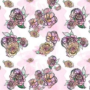 Watercolour Floral (Little Flossy)