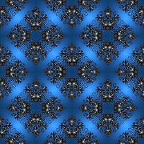 blue satin II