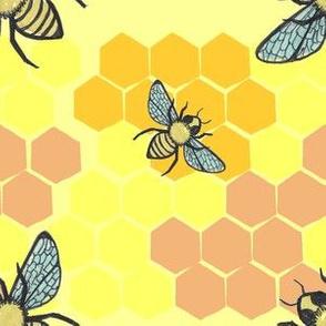 happy honeybees honeycomb