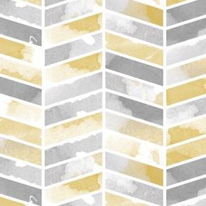 Herringbone grey and yellow