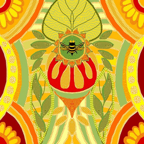 bumblebee am I his flower citrus weave
